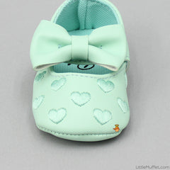 Mint Heart Booties