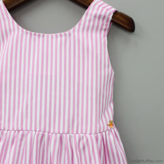 Pink And White Stripy Dress