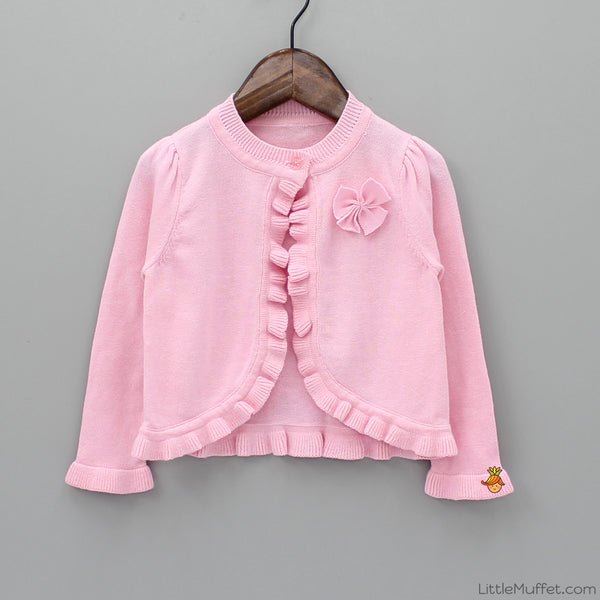 Stylish Pink Shrug