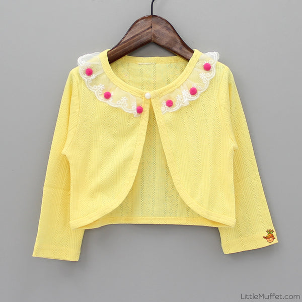 Pom Pom Shrug - Yellow