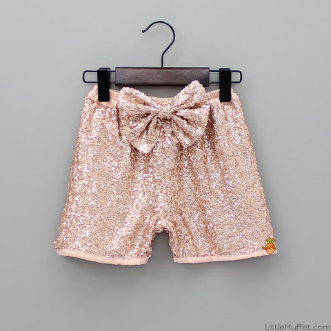 Pre Order: Rose Gold Sequin Shorts