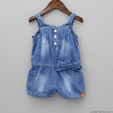 Denim Bowy Romper