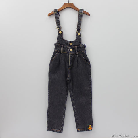 Denim Black Dungaree