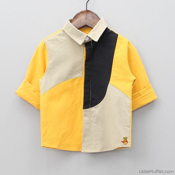 Tricolour Formal Party Shirt