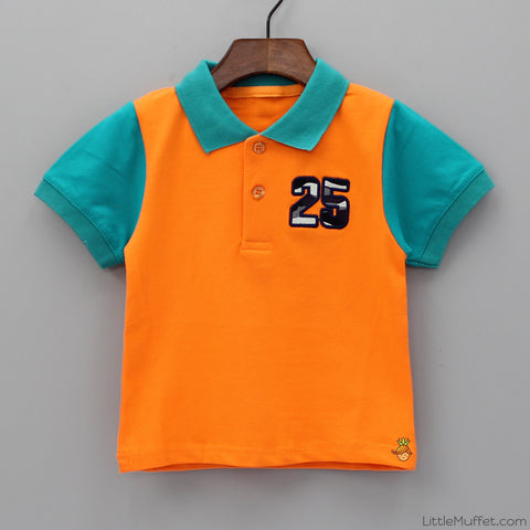 Orange And Green Polo