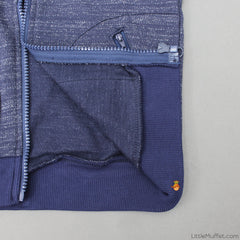 Navy Blue Zipper
