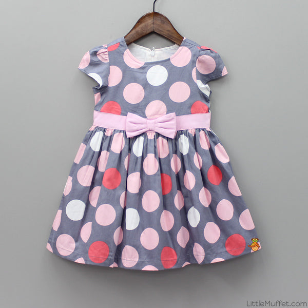 Polka Satin Dress
