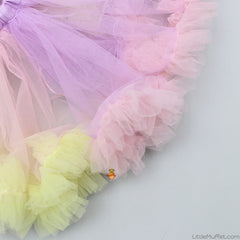 Pre Order: Yellow Bodysuit With Multicolour Tutu Skirt