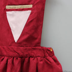 Pre Order: Pinafore Triangle Dress - Maroon