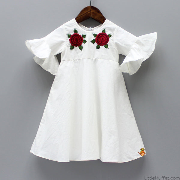 Pre Order: Embroidered White Dress