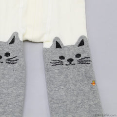 Kitty - Off-White & Grey