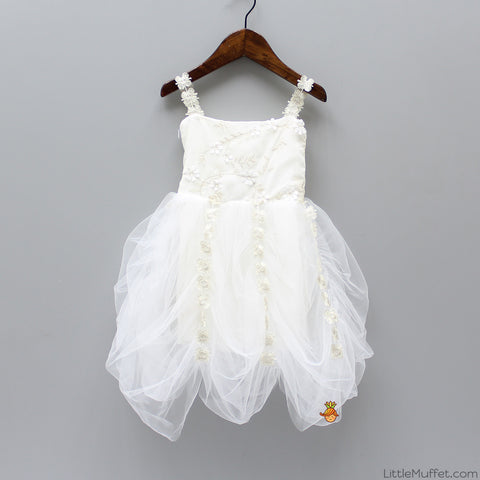 White Cowl Dress