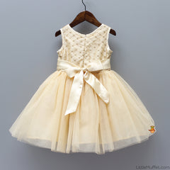 Pre Order: Party Dress - Light Gold