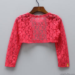 Classic Lacy Shrug - Coral