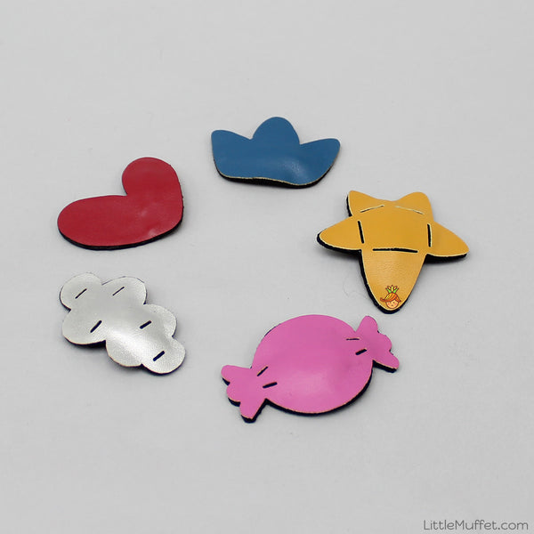 Little Shapes Clips - Set Of 5