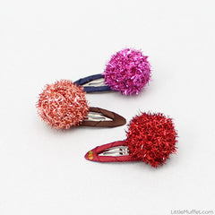 Multicolour Pom Pom Clip - Set of 6