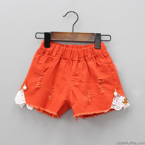 Pearly Orange Shorts