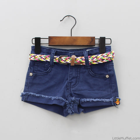 Shorts With Multi-color Belt