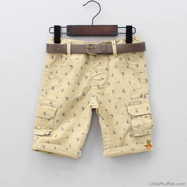 Sail Away Shorts With Belt
