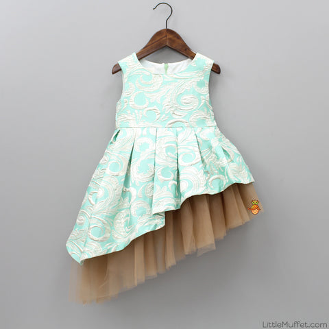 Aqua Green Party Dress