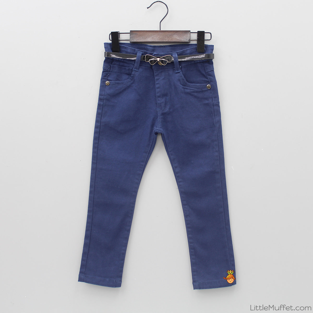 Dark Blue Denim With Bowy Belt