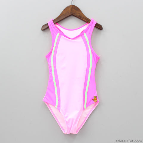 Hot Pink Stripy Swimwear