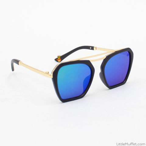 Black Polygonal Sunglasses
