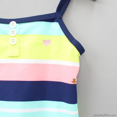 Mulicolour Stripy Swimsuit
