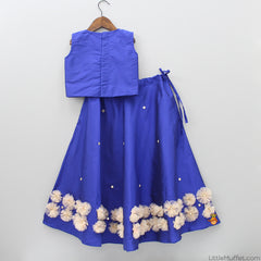 Pre Order: Blue Top And Skirt