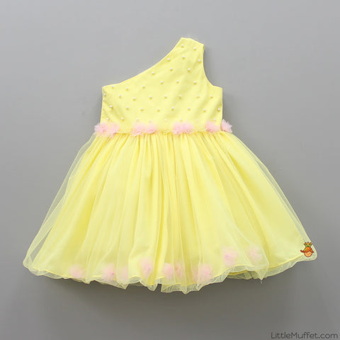 Pre Order: Yellow One Shoulder Dress