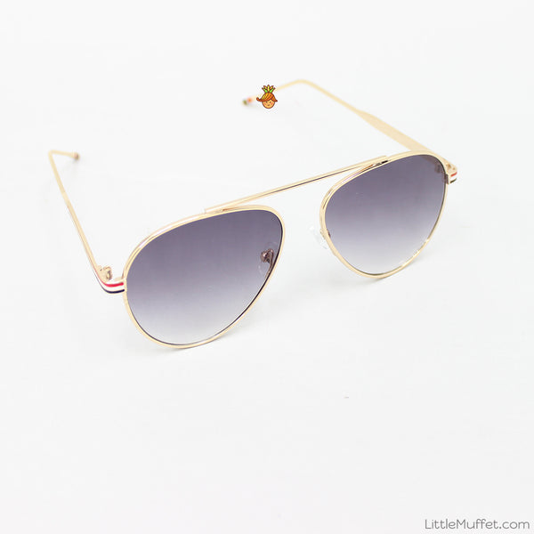 Aviator Sunglasses - Golden