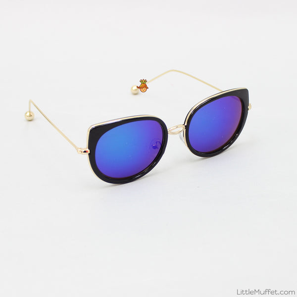 Mirror Finish Sunglasses - Blue