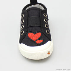Twin Hearts  Shoes - Black