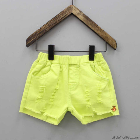 Green Rugged Shorts
