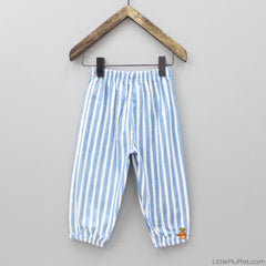 Striped Blue And White Pants