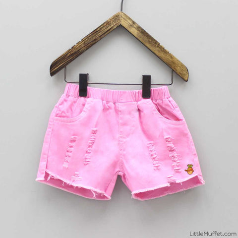 Pink Rugged Shorts