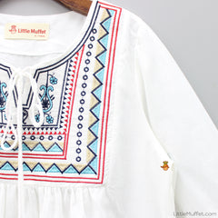 Off-White Embroidered Tunic