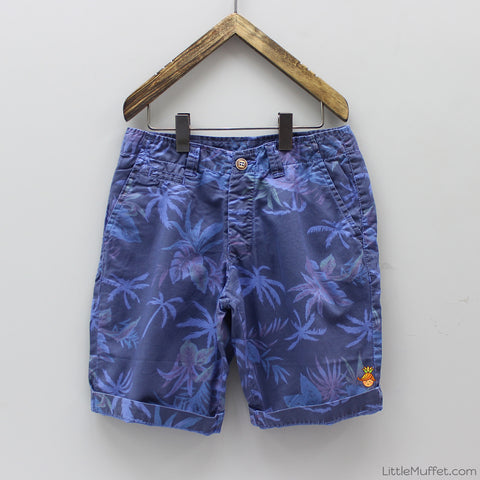 Palm Tree Print Shorts - Blue