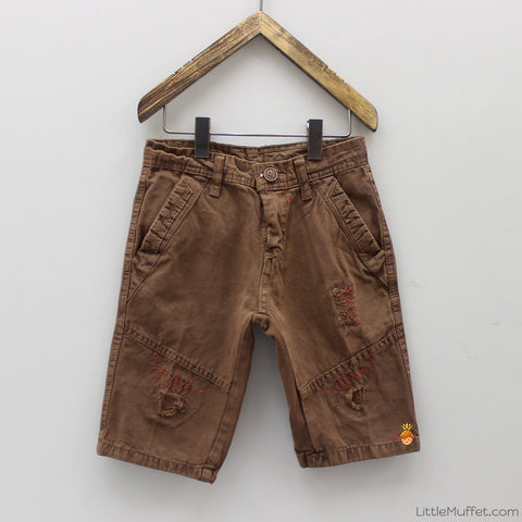Zig Zag Brown Shorts