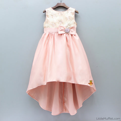 Up And Down Peach Dress