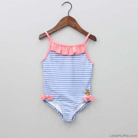 Striped Blue Swimwear