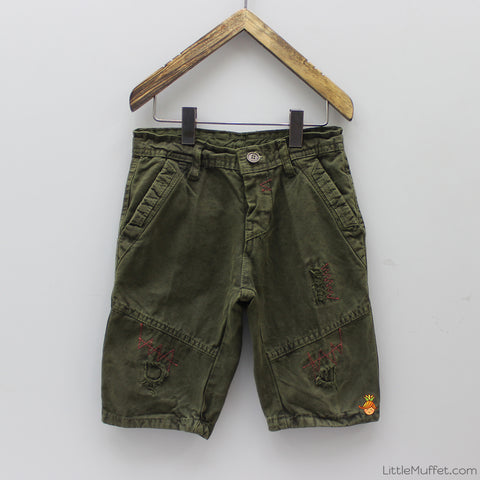 Zig Zag Dark Green Shorts