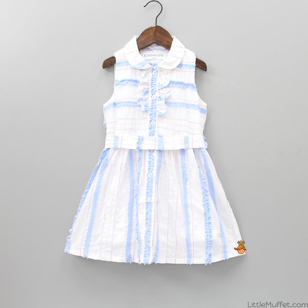Chambray Lace Dress