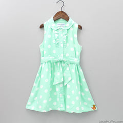 Green Polka Dress