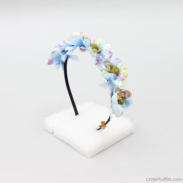 Blue Flora Hairband