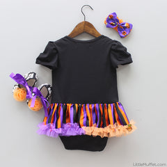 Halloween Pumpkin - 3 Piece Romper Set