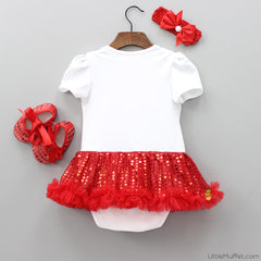 Red Hearty - 3 Piece Romper Set