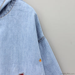 Denim Embroidered Back Jacket