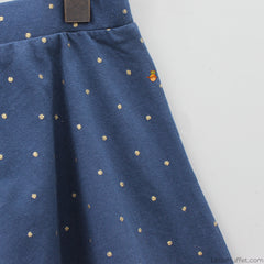 Dotted Printed Flary Shorts