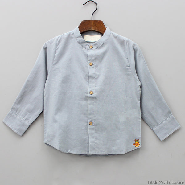 Pre Order: Plain Misty Grey Shirt